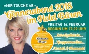 Gönnerabend 2018 @ Hotel Bären - Barocksaal