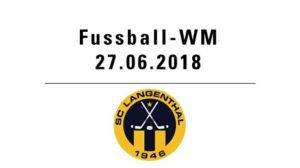 Fussball WM mit SC Langenthal @ Hotel Bären - Innenhof