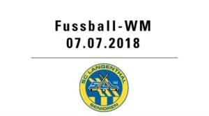 Fussball WM mit SCL Senioren @ Hotel Bären - Innenhof